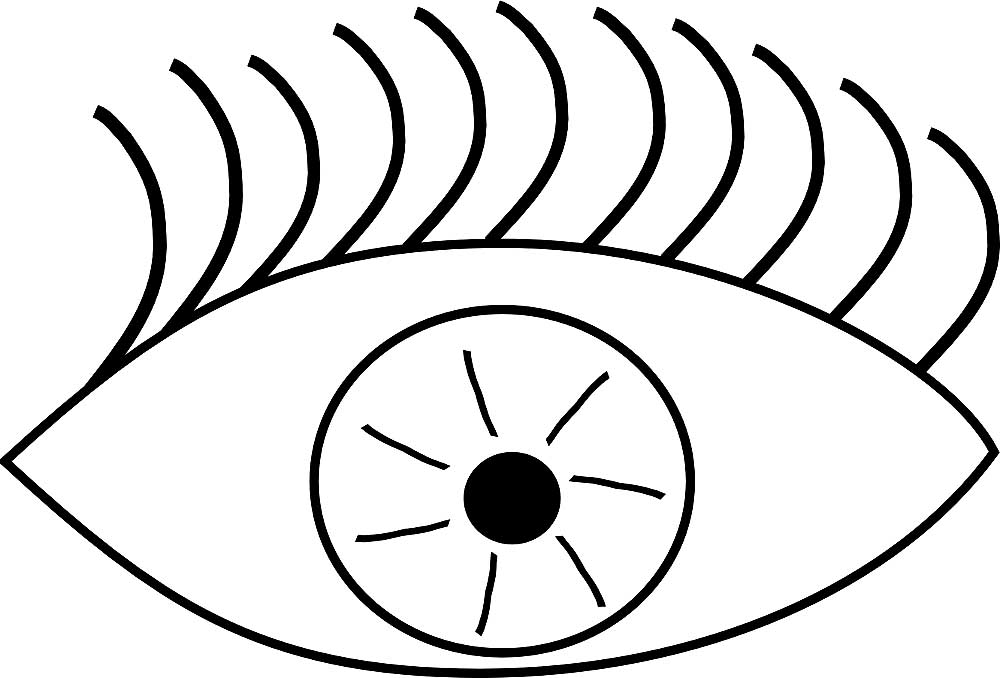 Eyes clipart black and white for kids