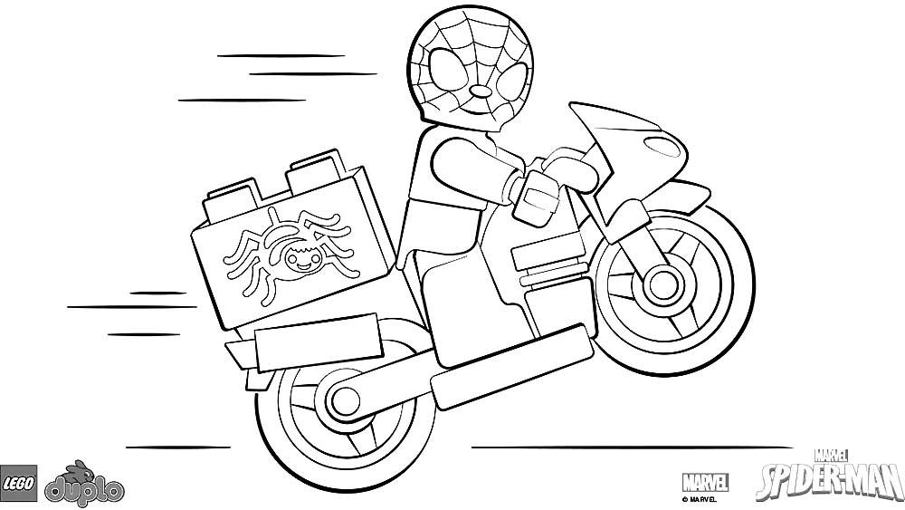 lego motorcycle coloring pages - photo#6