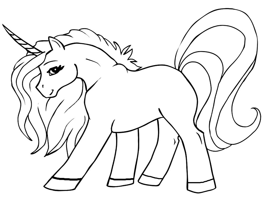for Unicorn coloring pages for kids
