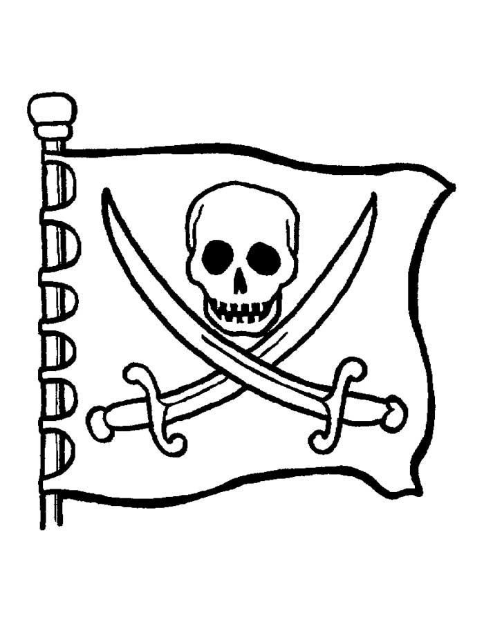 Pirate drawing for kids