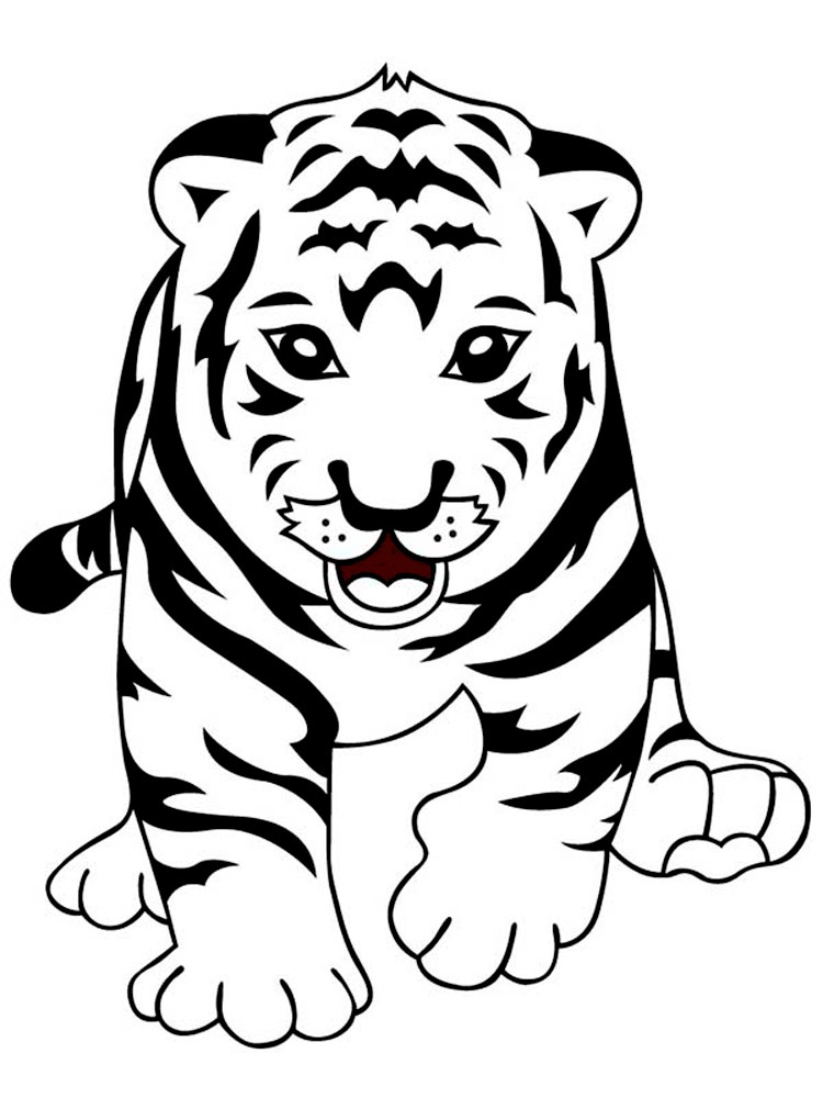 for White tiger coloring pages